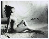 1568 BETTIE PAGE  Nude Photo Signed also BUNNY YEAGER