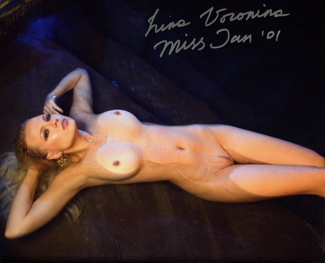 1592: Russian IRINA VORONINA - 2 Nude Photos Signed - 2