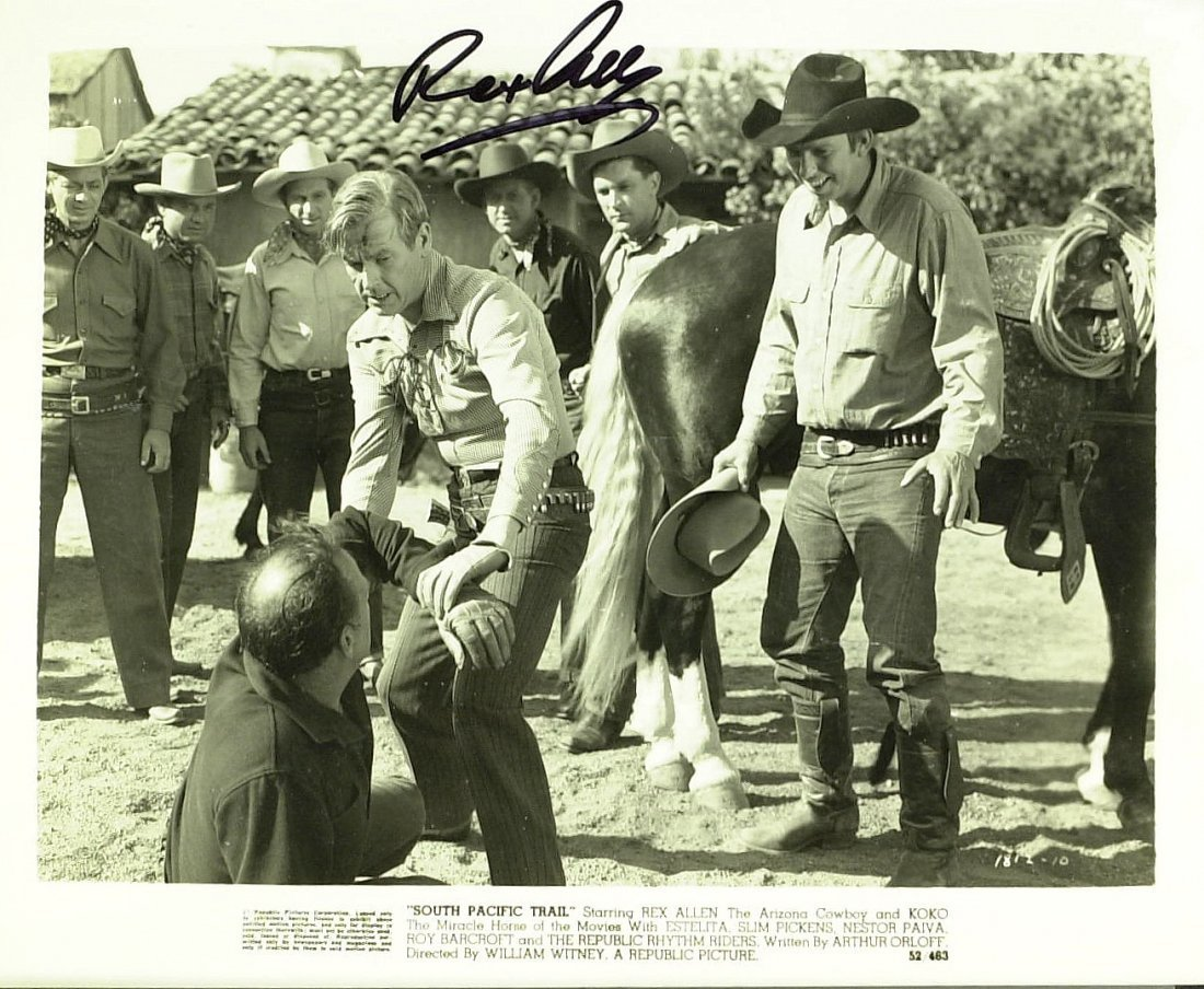 Cowboy Actor REX ALLEN - Photo Signed