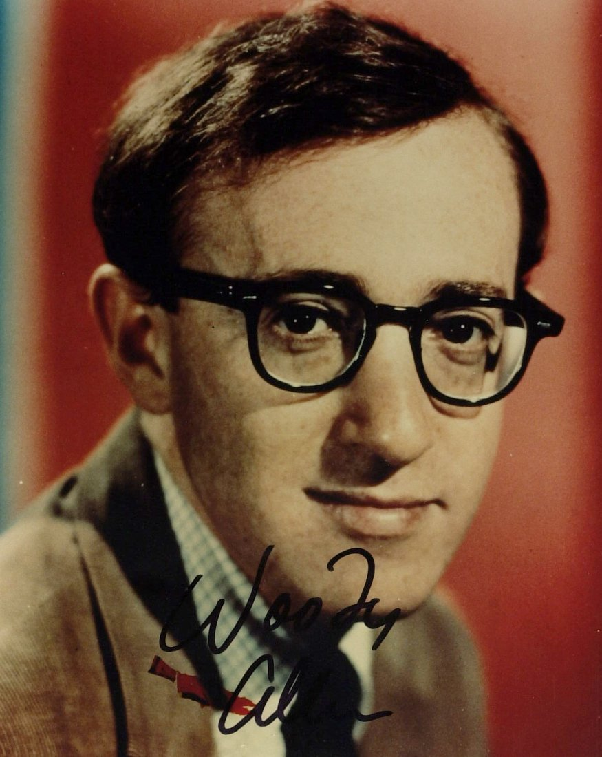 Actor, Director WOODY ALLEN - Color Photo Signed