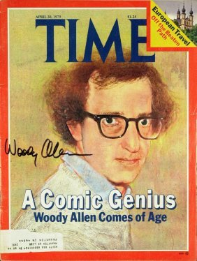 Comedian, Actor WOODY ALLEN - TIME Mag Signed