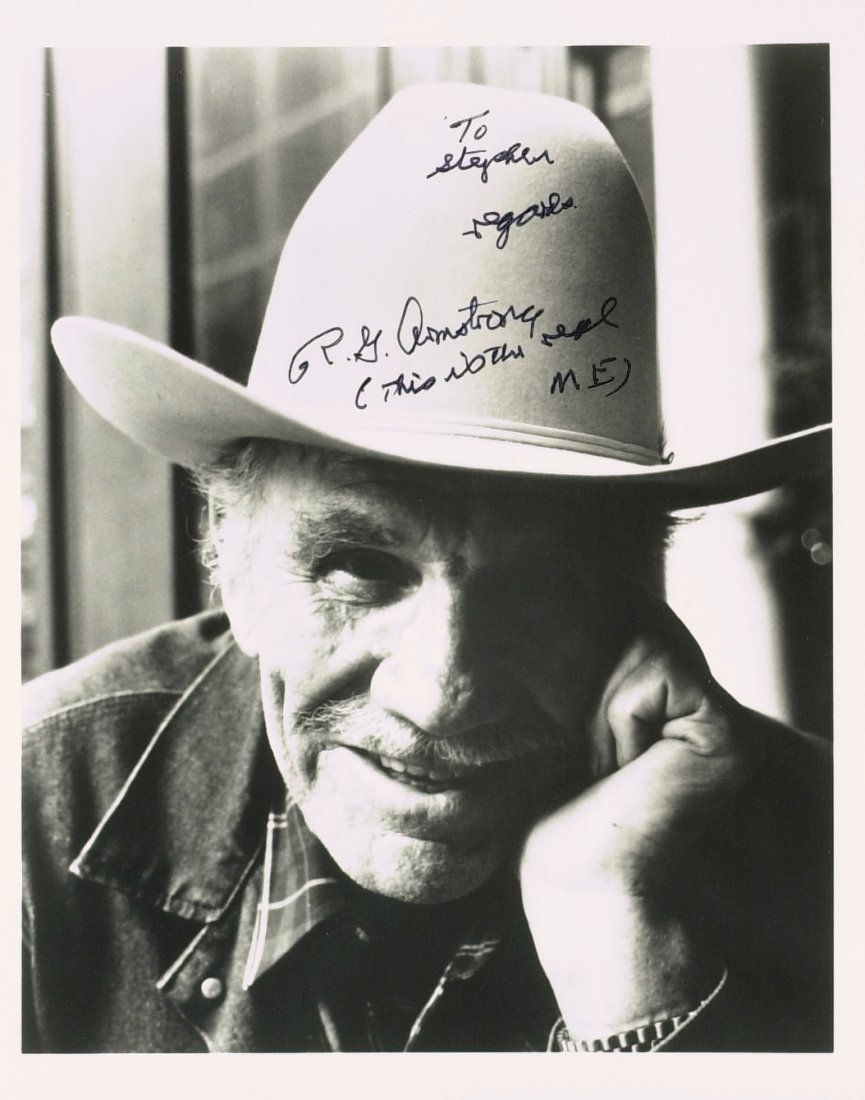 Westerns Actor R G ARMSTRONG - Photo Signed