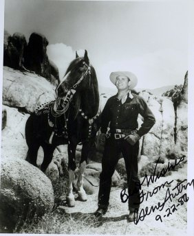 The Singing Cowboy GENE AUTRY - Photo Signed