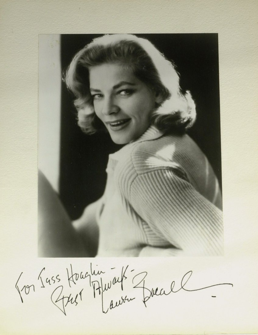 Mrs. Bogie LAUREN BACALL - Vintage Photo Signed