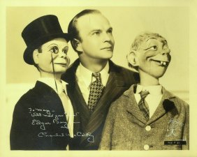 Ventriloquist EDGAR BERGEN - Photo Signed