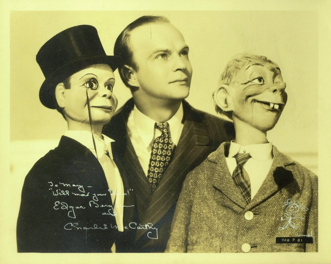 Ventriloquist EDGAR BERGEN - Photo Signed