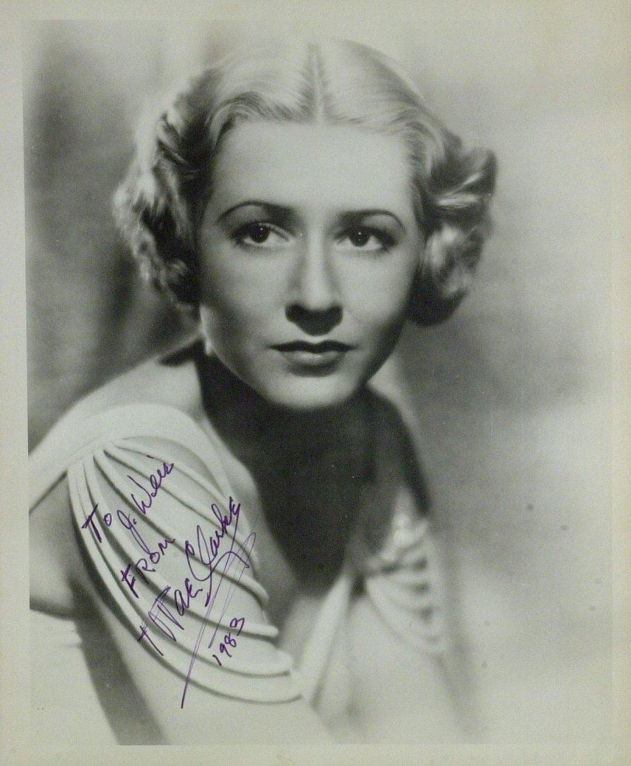 Actress MAE CLARKE - Vintage Photo Signed
