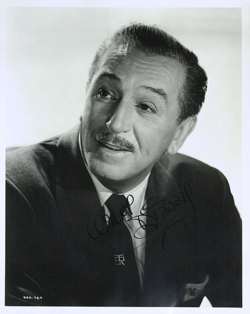 Animator, Businessman WALT DISNEY - Photo Signed