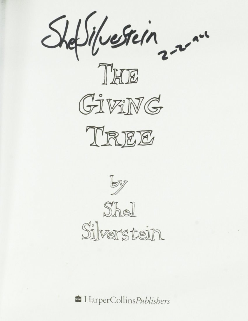 Children's Author SHEL SILVERSTEIN - His Book Signed - 2