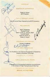CHARLES A LINDBERGH/ NEIL ARMSTRONG - Signatures