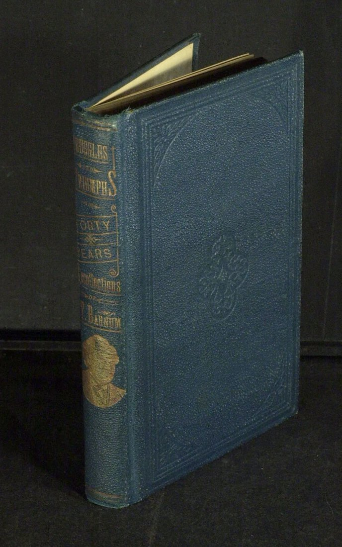 Showman P T BARNUM - His Book Signed