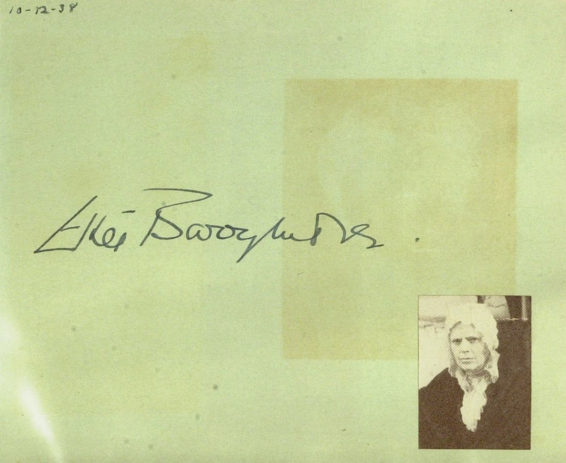 Actress ETHEL BARRYMORE - Album Page Signed