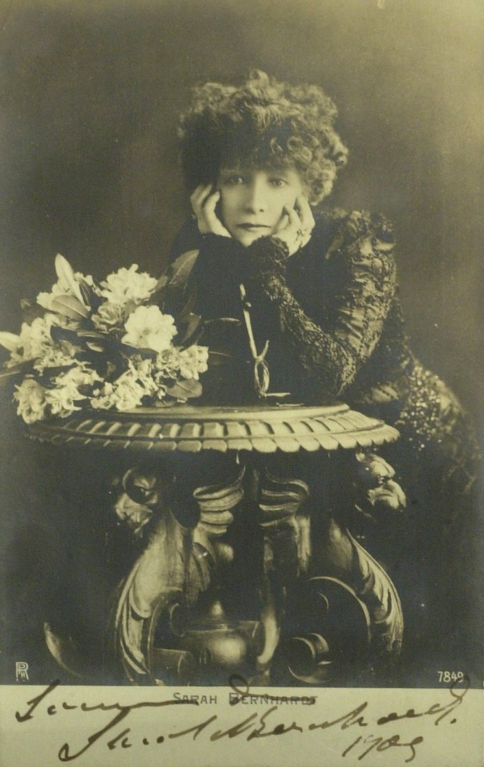 """The Devine Sarah"" SARAH BERNHARDT - Photo Signed"