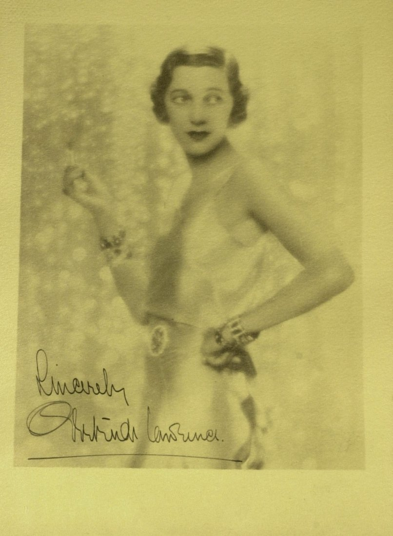 British Actress GERTRUDE LAWRENCE - Photo Signed