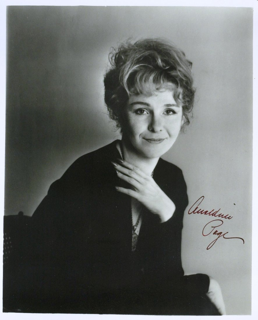 Actress GERALDINE PAGE - ANS and Photo Signed