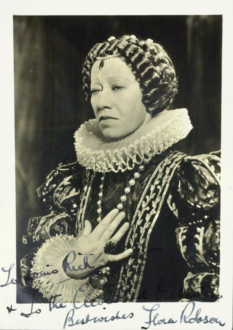 British Actress FLORA ROBSON - Photo Signed