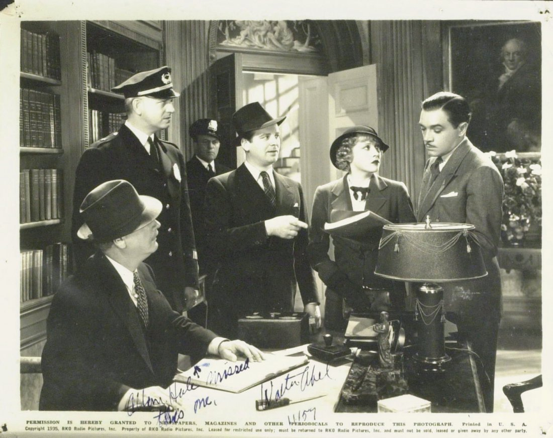 Actor WALTER ABEL - 1935 Movie Still Signed