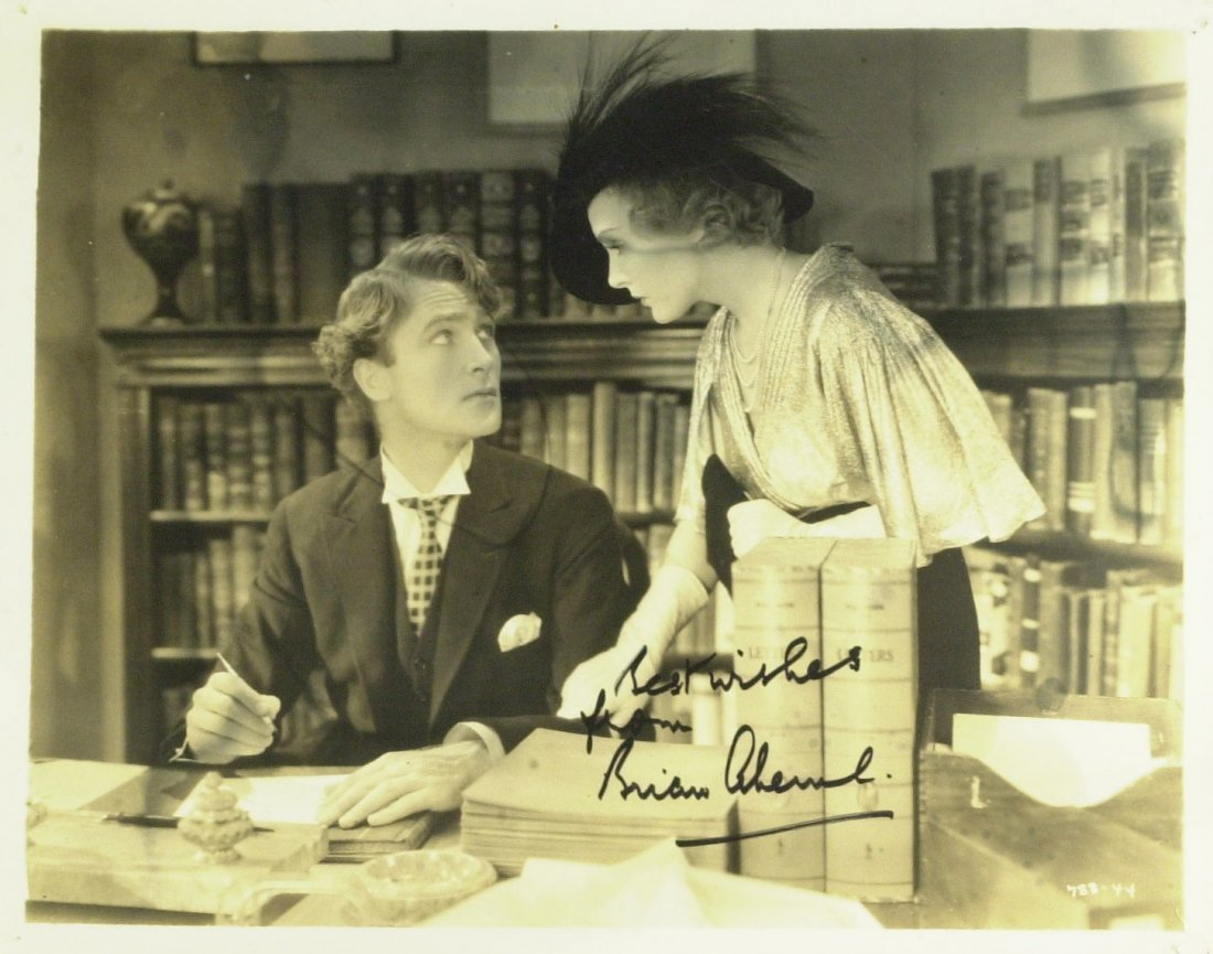 British Actor BRIAN AHERN - Movie Still Signed