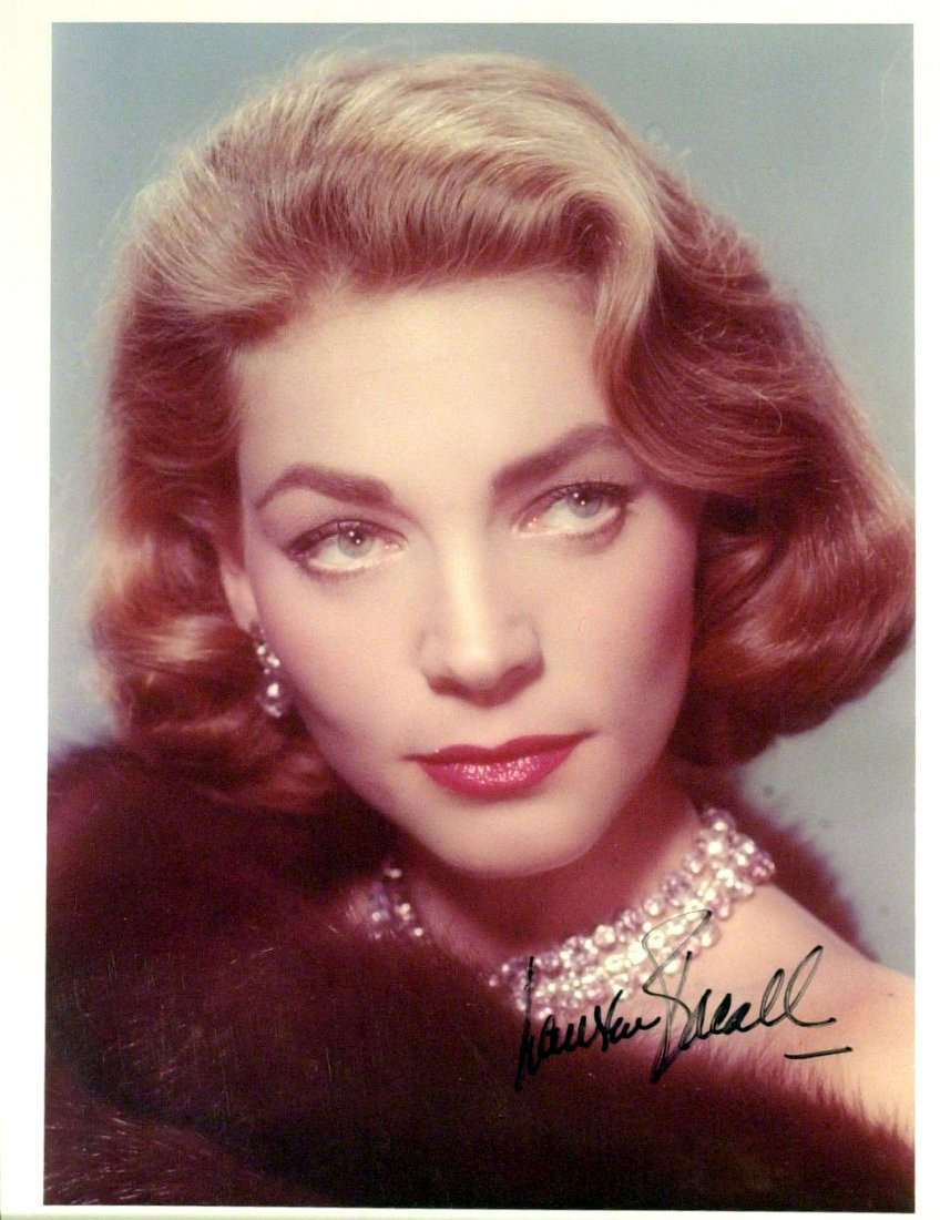 Actress LAUREN BACALL - Three Photos Signed