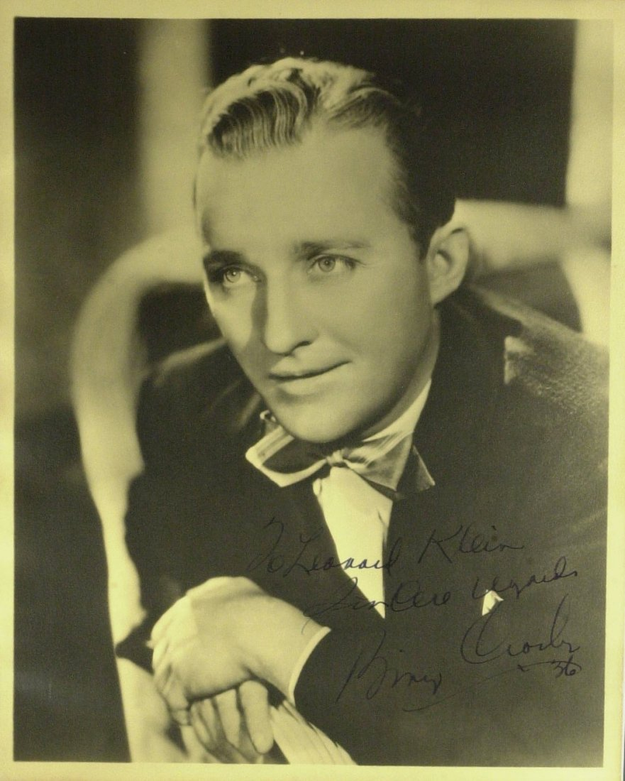 Singer, Actor BING CROSBY - Vintage Photo Signed