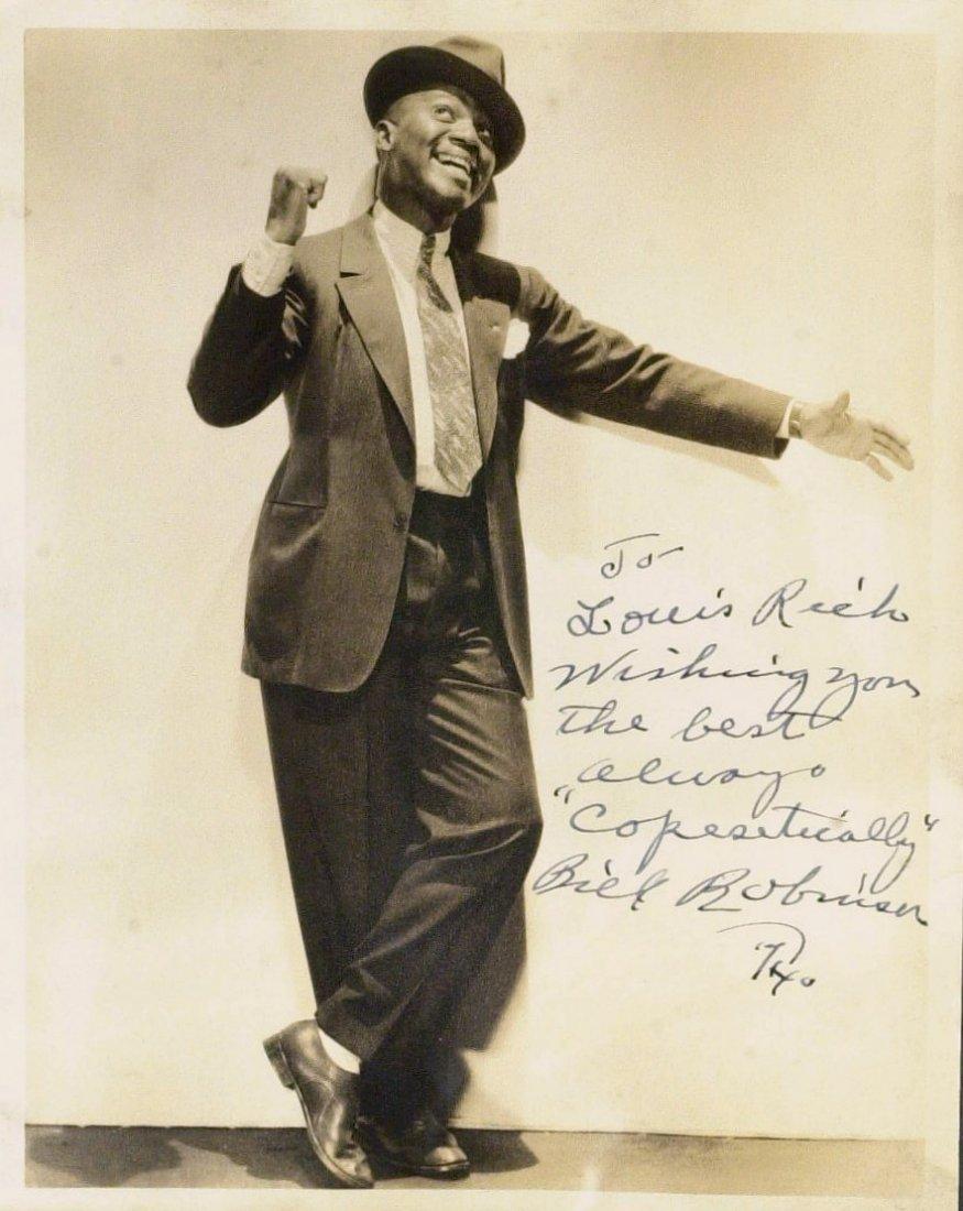 "Dancer BILL ""BOJANGLES"" ROBINSON - Photo Signed"