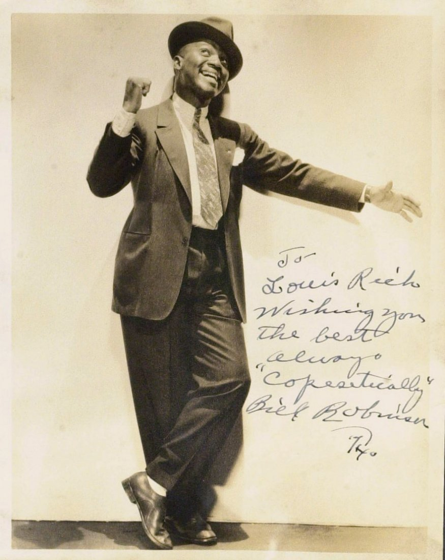 "Dancer BILL ""BOJANGLES"" ROBINSON - Photo Signed"