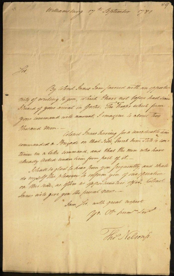 VA Signer THOMAS NELSON - War Date Ltr Signed