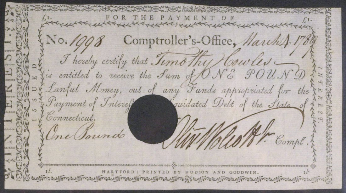Secy Treasury OLIVER WOLCOTT, JR - Pay Order Signed