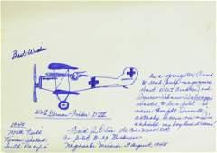 Bockscar Co-Pilot FRED OLIVI - Original Sketch Signed