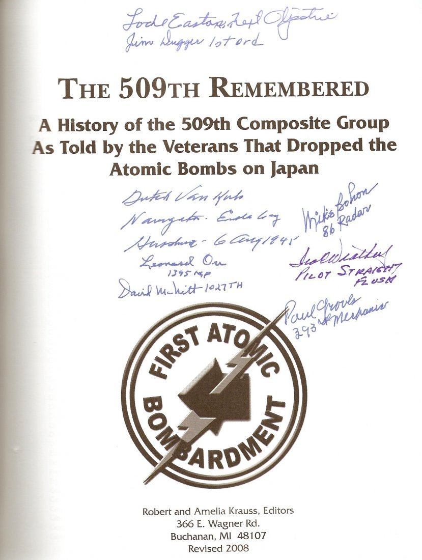 509th Composite Group - Book Signed by Eight