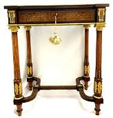 A FRENCH GILT-METAL MOUNTED BURL WALNUT, ROSEWOOD AND
