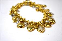 18K multiple diamond hearts necklace that separates