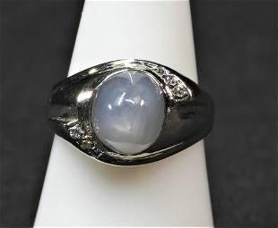 14K wg star sapphire ring