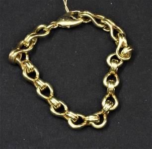 18K yg mans very unusual link bracelet