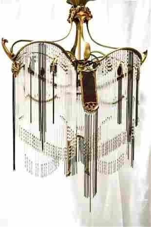 Art Nouveau Guimard Chandelier