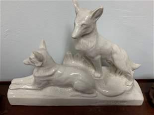Cracked ceramic sculpture - L. FrançoisFrance - 1930 -