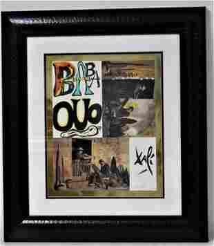 "Salvador Dali ""Babaouo"" Mixed Media Collage"