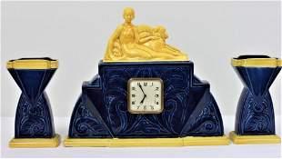 Sarrequemines - Art Deco Clock set - 1910-1930