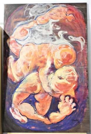 OMAR CORRALES. Oil on canvas