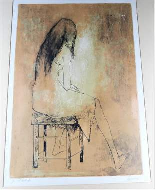Jean Jansem, French (1920-2013) Color lithograph