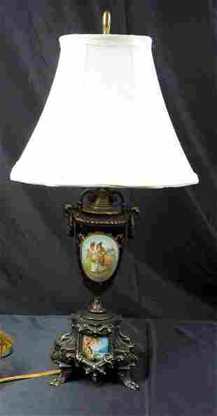 Table lamp in Sevres style