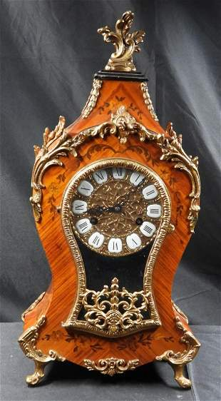 FRENCH BOULLE style INLAY BRONZE WALL CLOCK