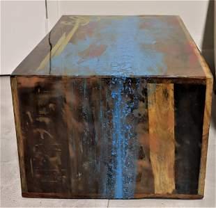 Oak wood coffee table by Franck Pala