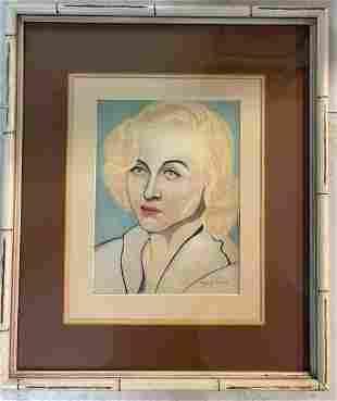 Francis Picabia Woman Portrait signed