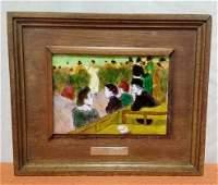 (Art) Enamel over Copper Toulouse Lautrec