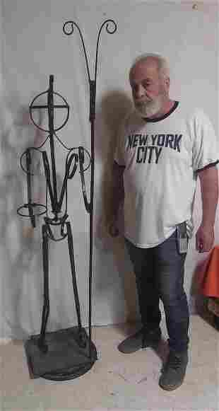 """Iron Sculpture Modernist """"Man"""""""