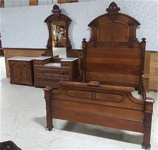 3 piece walnut Victorian bedroom set