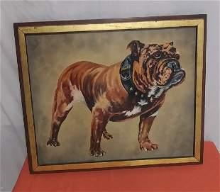 Original Oil painting of MACK Bulldog