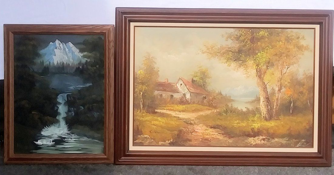Pair of Oil On Canvas Signed Keng and Kaiser