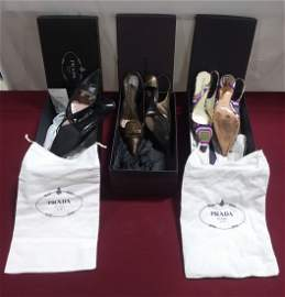 3 pairs size 35 1/2 PRADA